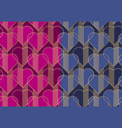 hearts multicolor seamless pattern vector image