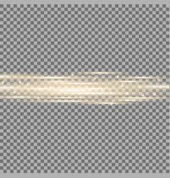 Horizontal lens flares lights golden color vector