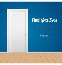 House Door Page vector image