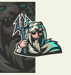 hunter warrior mascot vector image
