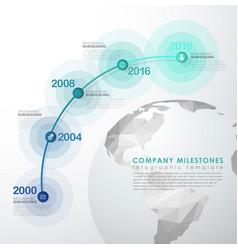 Infographic startup milestones timeline template vector