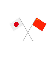 japan and china flags vector image