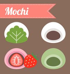 Japanese dessert vector