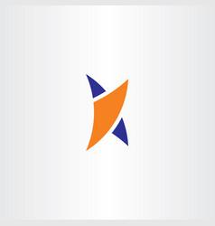 k logo blue orange icon sign symbol letter vector image