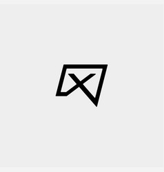 Letter x chat logo template design vector