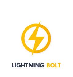 Lightning bolt sign icon vector