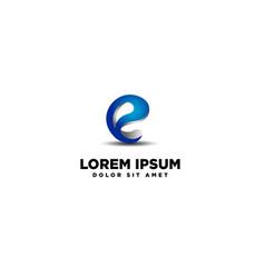 Logo lattering e vector