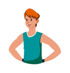 Man fitness sport exercise icon vector