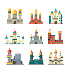 medieval castles palace tower fairytale vector image
