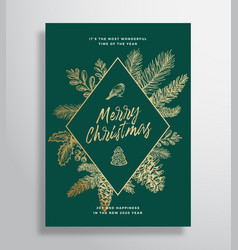 merry christmas abstract frame greeting vector image