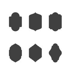 mosque window icon vector image