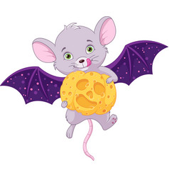 mouse and halloween vector image
