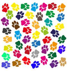 Multi-colored traces animals vector