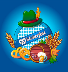 oktoberfest concept background cartoon style vector image