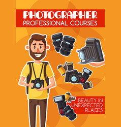 photography professional courses cartoon vector image