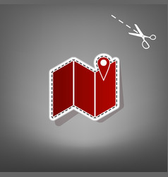 pin on the map red icon with for applique vector image