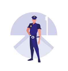 police man avatar character vector image