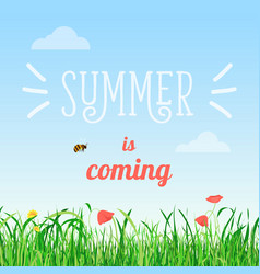 Poster summer is coming vector