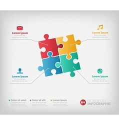 Puzzle infographic for business vector image