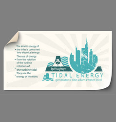 renewable energy from tidal energy templates vector image