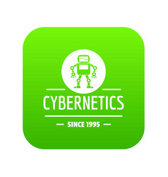 robot toy icon green vector image