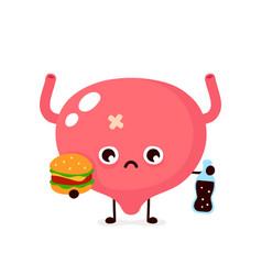 Sad suffering sick cute bladder vector