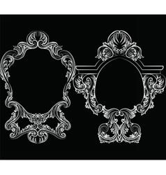 Set of Baroque Vintage Decoration Frames vector image