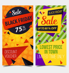 set of isolated labels or tags for black friday vector image