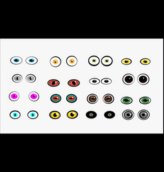 Set of monster eyes vector
