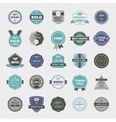 Set of retro badges vintage labels icons vector