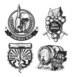 set of winemaking elements vector image