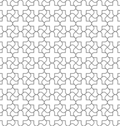 Simple geometric seamless pattern in oriental vector