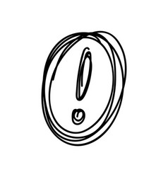 sketch exclamation mark in the circle vector image