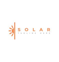 Solar logo design vector