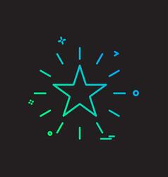 star shine design icon vector image