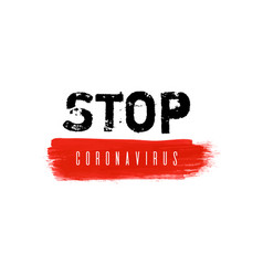 stop coronavirus ink watercolor icon vector image