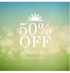 summer sale nature retro background vector image