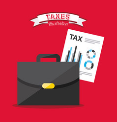 tax concept vector image