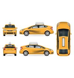 taxi car mock-up vector image