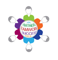 teamwork business people logo vector image