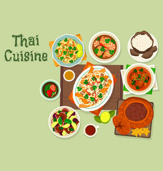 Thai cuisine icon for spicy asian food design vector