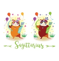 The signs of the zodiac Guinea pig Sagittarius vector