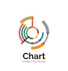 Thin line chart logo design Graph icon modern vector