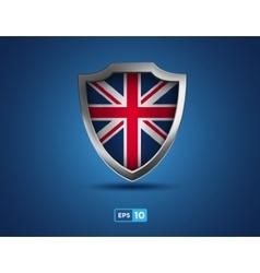 uk shield on blue background vector image