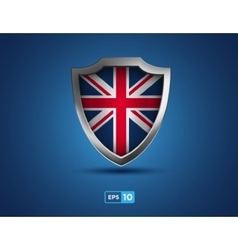 UK shield on the blue background vector image