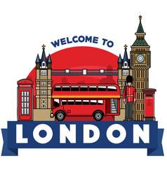 united kingdom icon city vector image