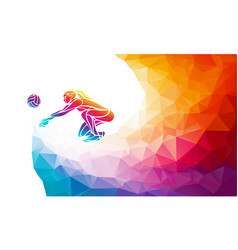Volleyball lady player team sport vector