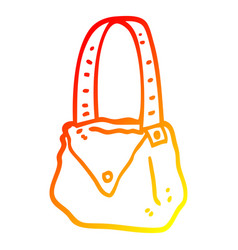 Warm gradient line drawing cartoon satchel vector