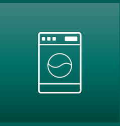 washer flat icon laundress sign symbol flat on vector image