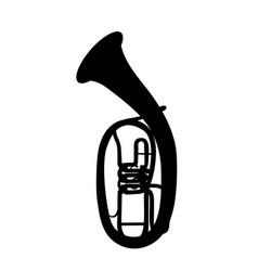 Widely menzurny brass instrument tube vector